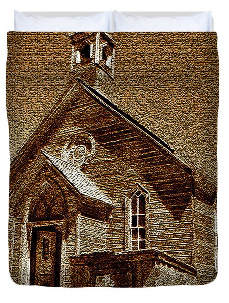 Bodie Church Duvet Cover by David Lee Thompson