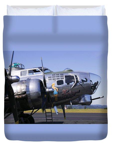 Bomber Sentimental Journey Duvet Cover by Garry Gay