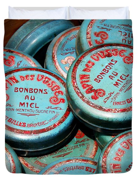 Bonbons Au Miel Duvet Cover by Lainie Wrightson