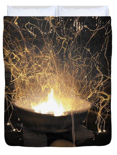 Bonfire Duvet Cover by Sumit Mehndiratta