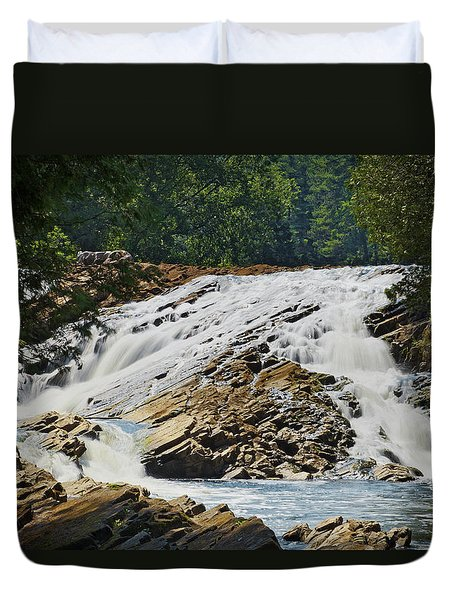 Bonnechere Falls Duvet Cover by Phill Doherty