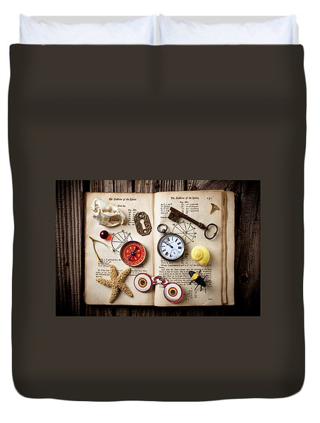 Book Of Mystery Duvet Cover by Garry Gay