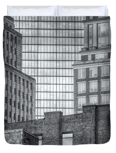 Boston Building Facades II Duvet Cover by Clarence Holmes