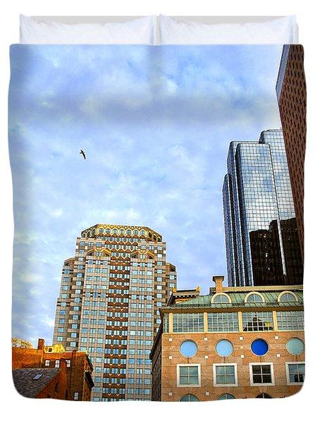 Boston Downtown Duvet Cover by Elena Elisseeva