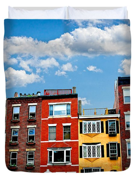 Boston Houses Duvet Cover by Elena Elisseeva