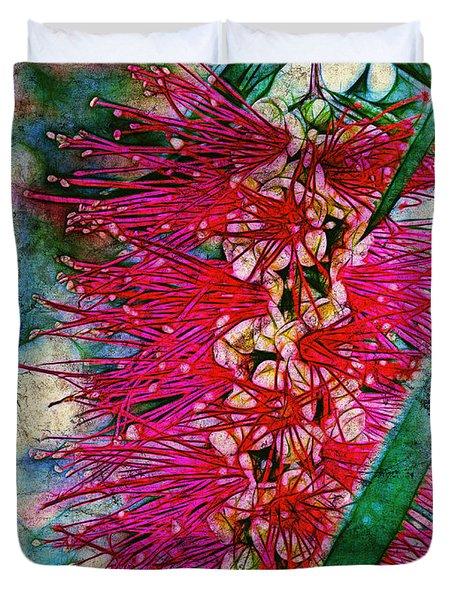 Bottlebrush Duvet Cover by Judi Bagwell