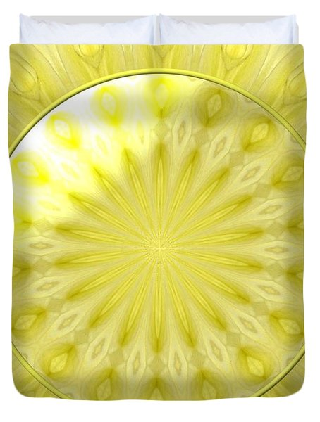 Bouquet Of Roses Kaleidoscope 7 Duvet Cover by Rose Santuci-Sofranko