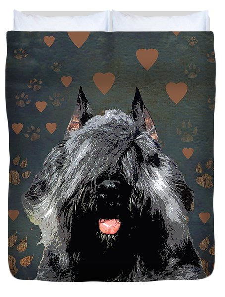 Bouvier Des Flandres Duvet Cover by One Rude Dawg Orcutt
