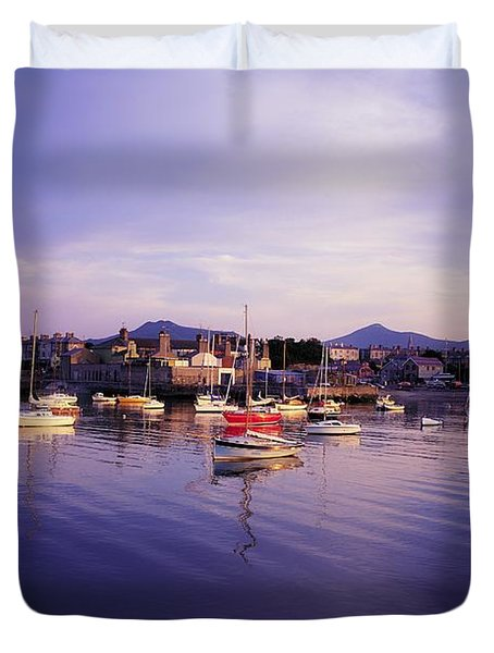Bray Harbour, Co Wicklow, Ireland Duvet Cover by The Irish Image Collection