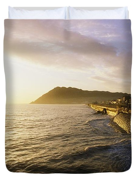 Bray Promenade, Co Wicklow, Ireland Duvet Cover by The Irish Image Collection
