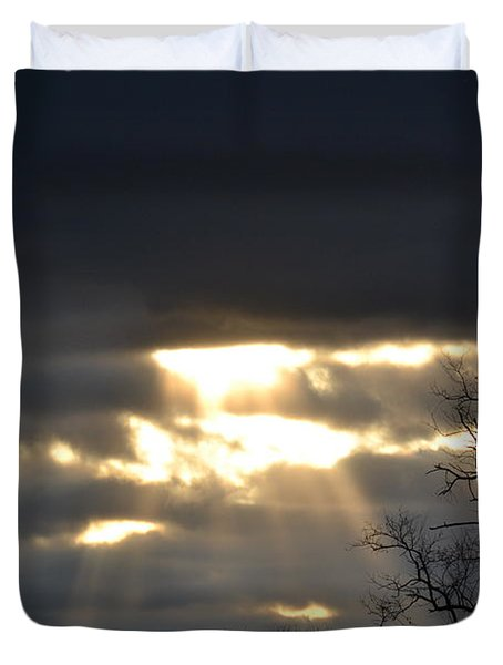 Break In The Clouds Duvet Cover