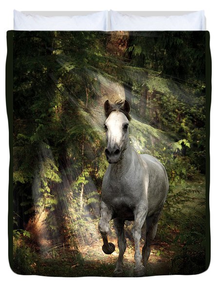 Breaking Dawn Gallop Duvet Cover by Wes and Dotty Weber