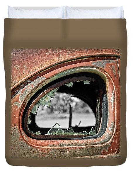 Breaking Through Time Duvet Cover by Steve McKinzie