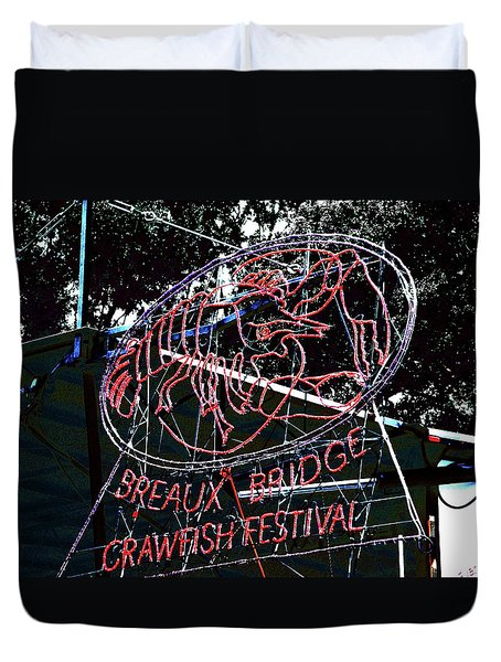 Breaux Bridge Crawfish Festival Duvet Cover