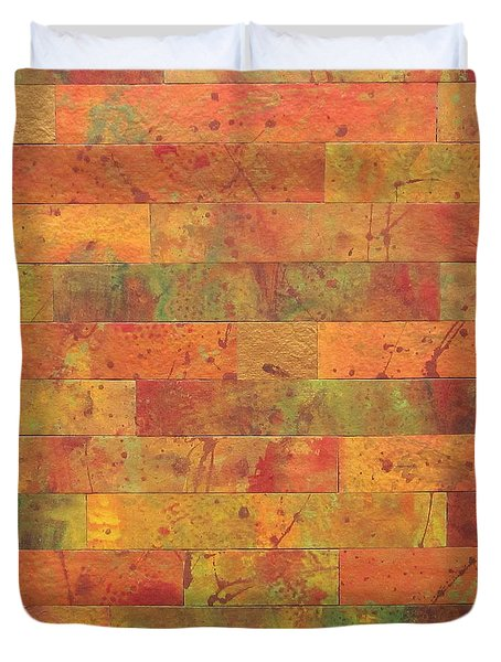 Brick Orange Duvet Cover