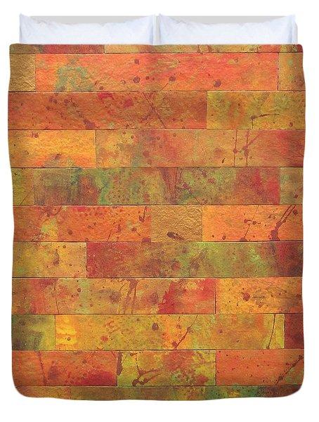 Brick Orange Duvet Cover