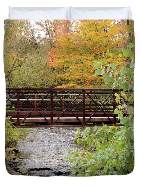 Bridge Over River Duvet Cover