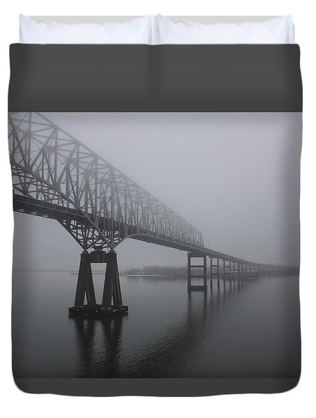 Bridge To Nowhere Duvet Cover by Shelley Neff