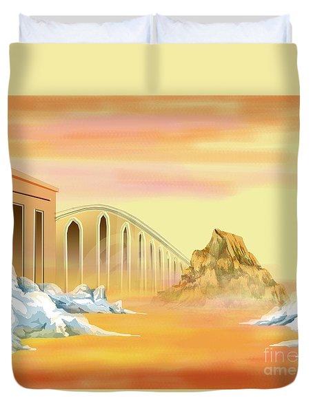 Bridges Of Parting Duvet Cover