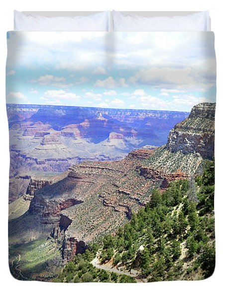 Duvet Cover featuring the photograph Bright Angel Trail by Paul Mashburn