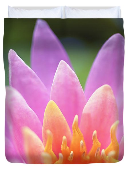 Bright Pink Water Lily Duvet Cover by Kicka Witte