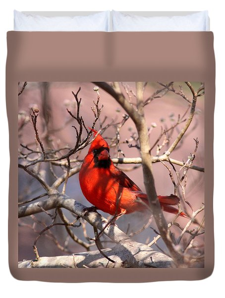Bright Red Duvet Cover