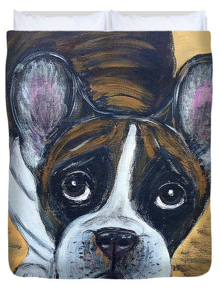 Brindle Frenchie Duvet Cover