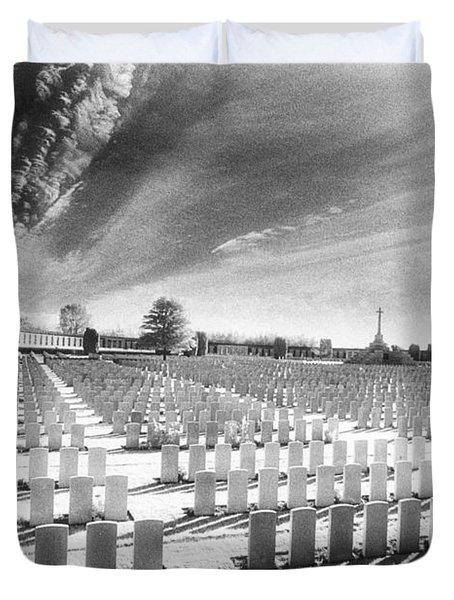 British Cemetery Duvet Cover by Simon Marsden
