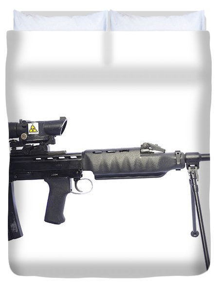 British Prototype 4.56mm Light Support Duvet Cover by Andrew Chittock