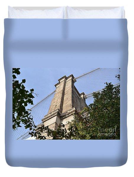 Brooklyn Bridge2 Duvet Cover by Zawhaus Photography