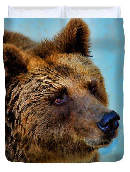 Brown Bear 203 Duvet Cover