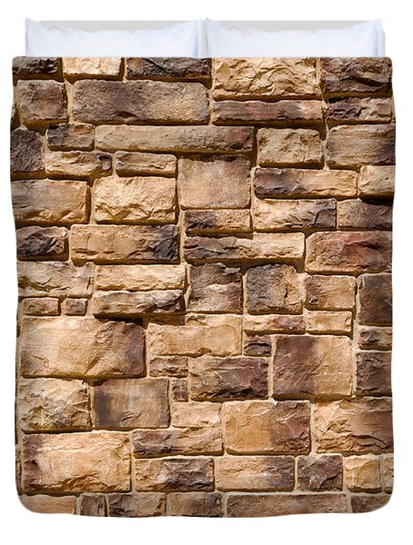 Brown Brick Wall Duvet Cover