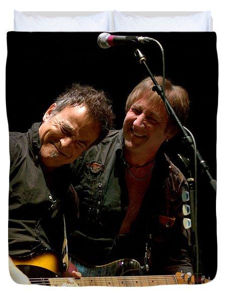 Bruce Springsteen And Danny Gochnour Duvet Cover