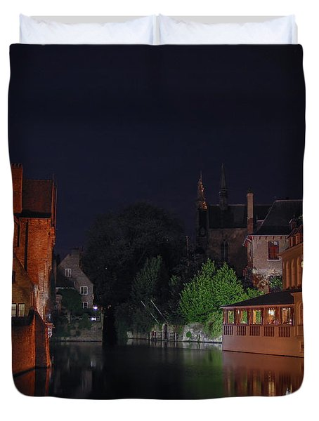 Duvet Cover featuring the photograph Bruges by David Gleeson