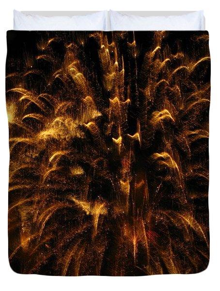 Brushed Gold Duvet Cover by Rhonda Barrett