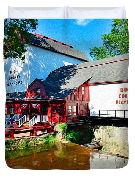 Bucks County Playhouse Duvet Cover