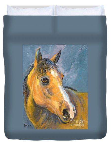 Buckskin Sport Horse Duvet Cover