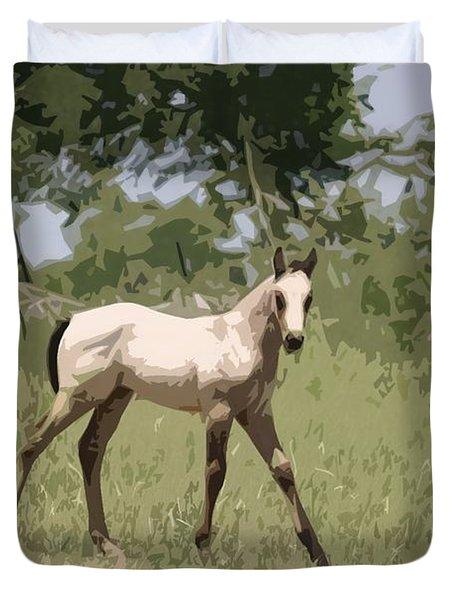 Buckskin Pony Duvet Cover by Donna G Smith