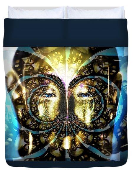Buddha Blue Mandala Duvet Cover