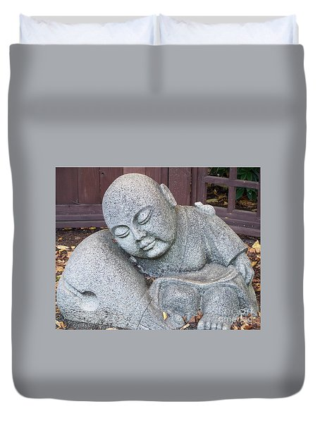 Duvet Cover featuring the photograph Buddha by Chalet Roome-Rigdon
