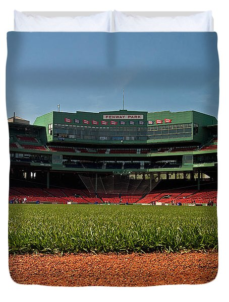 Bugs Eye View From Center Field Duvet Cover by Paul Mangold