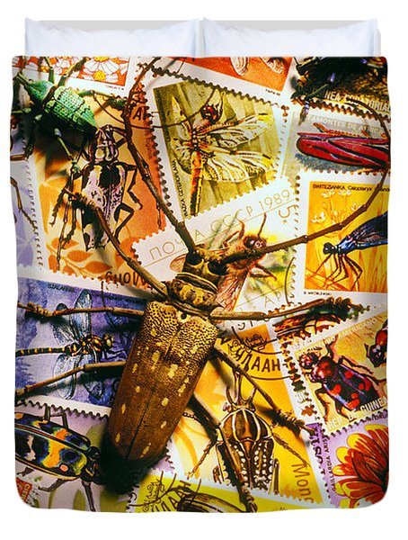 Bugs On Postage Stamps Duvet Cover