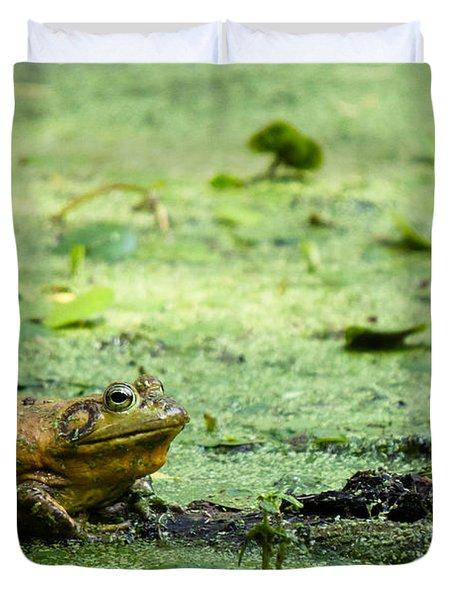 Bull Frog Duvet Cover