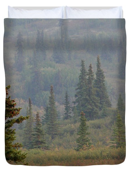 Duvet Cover featuring the photograph Bull Moose In Alaska by Karen Lee Ensley