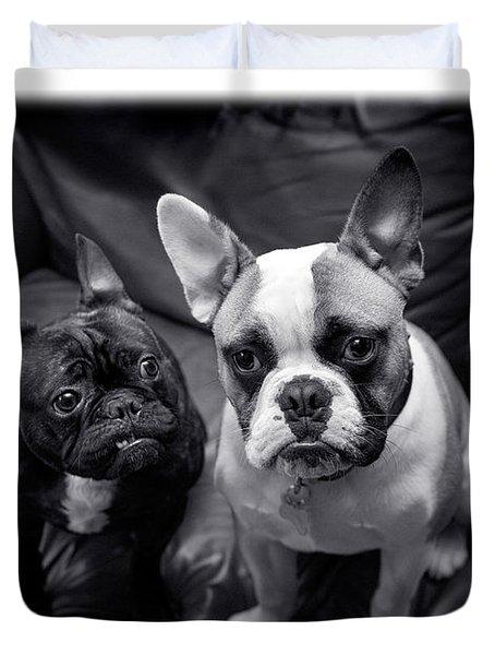 Bulldog Buddies Duvet Cover