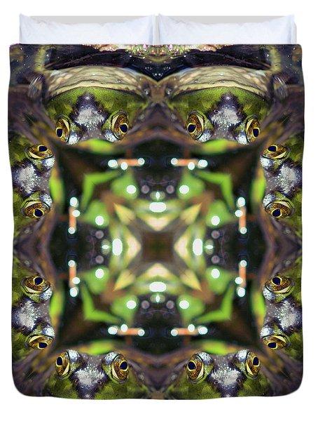 Bullfrog Kaleidoscope Duvet Cover