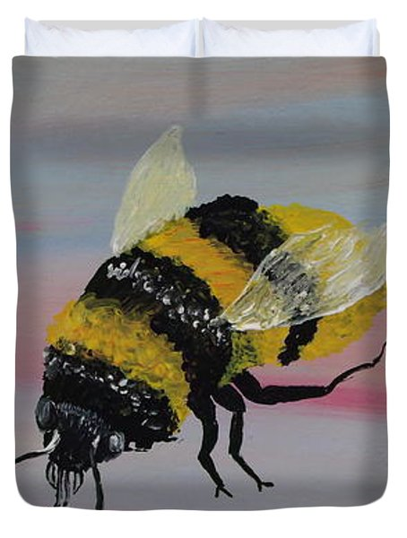 Bumble Bee Duvet Cover by Mark Moore