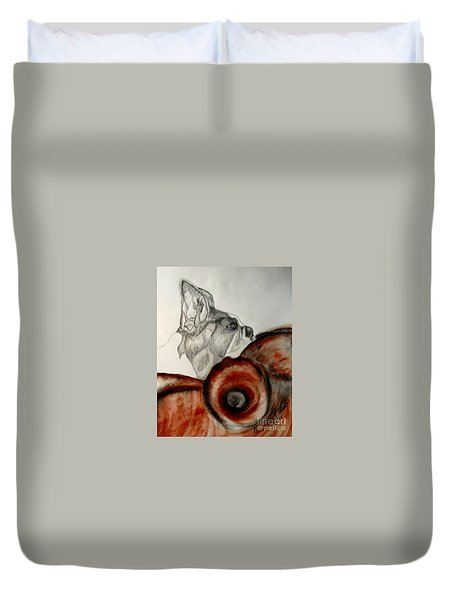 Bundled In Blankets Duvet Cover by Maria Urso
