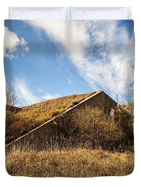 Bunker Down Duvet Cover by CJ Schmit