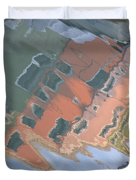 Duvet Cover featuring the photograph Burano House Reflections by Rebecca Margraf